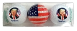 Donald Trump 45th President Souvenir Golf Balls 3-Pk