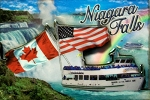 Niagara Falls Maid of the Mist Cartoon Fridge Magnet