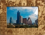 Austin Texas Laser Engraved Wood Picture Frame (5 x 7)