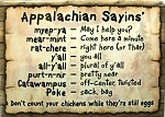 Appalachian Saying Fridge Magnet
