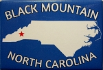 Black Mountain North Carolina Blue Fridge Magnet