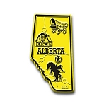 Alberta Map Fridge Magnet