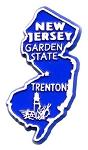 New Jersey State Outline Fridge Magnet