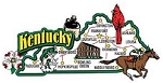 Kentucky Jumbo Map Fridge Magnet