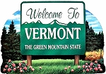 Vermont State Welcome Sign Artwood Fridge Magnet