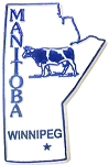 Manitoba Winnipeg Souvenir Fridge Magnet