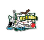 Washington Jumbo Map Fridge Magnet
