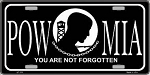 POW-MIA You are Not Forgotten License Plate