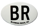 Blowing Rock BR North Carolina Oval Fridge Magnet