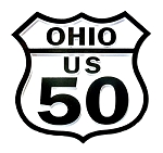 Rt 50 Ohio Road Sign Fridge Magnet