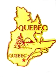 Classic Quebec Canadian Province Outline Fridge Magnet