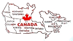 Canada Outline Fridge Magnet