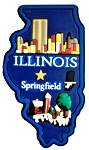 Illinois Springfield Multi Color Fridge Magnet