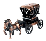 Carriage with Horse Die Cast Metal Collectible Pencil Sharpener