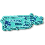 Puerto Rico Map Fridge Magnet