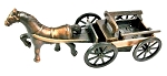 Horse and Flat Buggy Die Cast Metal Collectible Pencil Sharpener