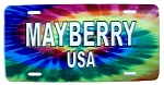 Mayberry USA Tye Die License Plate