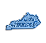 Kentucky The Bluegrass State Map Fridge Magnet
