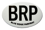 Blue Ridge Parkway BRP North Carolina Oval Fridge Magnet