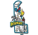 Delaware Jumbo Map Fridge Magnet