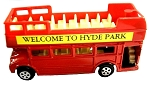 Red Double Decker Sight Seeing Bus Die Cast Metal Collectible Pencil Sharpener