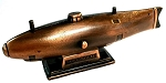 Old Time Submarine Die Cast Metal Collectible Pencil Sharpener
