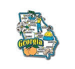Georgia Jumbo Map Fridge Magnet