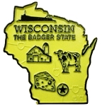 Wisconsin State Outline Fridge Magnet