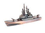 Navy Missile Cruiser Die Cast Metal Collectible Pencil Sharpener