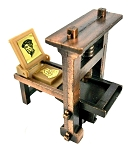 Old Time Printing Press Die Cast Metal Collectible Pencil Sharpener