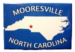 Mooresville North Carolina Blue Fridge Magnet