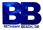 Bethany Beach Delaware Blue Block Design Fridge Magnet