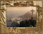 Brazil Laser Engraved Wood Picture Frame (5 x 7)
