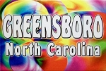 Greensboro North Carolina Tye Die Fridge Magnet