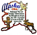 Alaska State Outline Montage Fridge Magnet