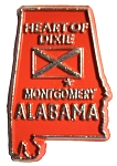 Alabama State Outline Fridge Magnet