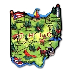 Ohio State Outline Artwood Jumbo Fridge Magnet