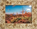 Southwestern Style Laser Engraved Wood Picture Frame (5 x 7)