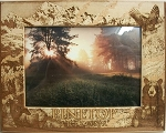 Pinetop Arizona with Bear and Eagle Laser Engraved Wood Picture Frame (5 x 7)