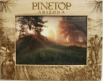 Pinetop Arizona with Bear Laser Engraved Wood Picture Frame (5 x 7)