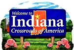Indiana State Welcome Sign Artwood Magnet