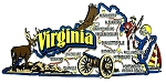 Virginia Jumbo Map Fridge Magnet