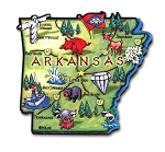 Arkansas State Outline Artwood Jumbo Fridge Magnet