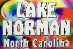 Lake Norman North Carolina Tye Die Fridge Magnet
