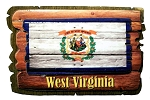 West Virginia Rustic State Flag Artwood Fridge Magnet