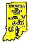 Indiana The Hoosier State Map Fridge Magnet