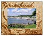 Kennebunk Beach Maine Engraved Wood Picture Frame (5 x 7)
