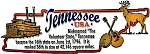 Tennessee State Outline Montage Fridge Magnet