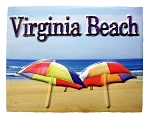 Virginia Beach Highlight Fridge Magnet