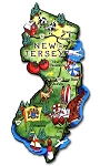 New Jersey State Outline Artwood Jumbo Fridge Magnet